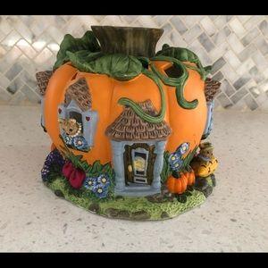 Partylite Pumpkin House Votive Candle Holder Flaw